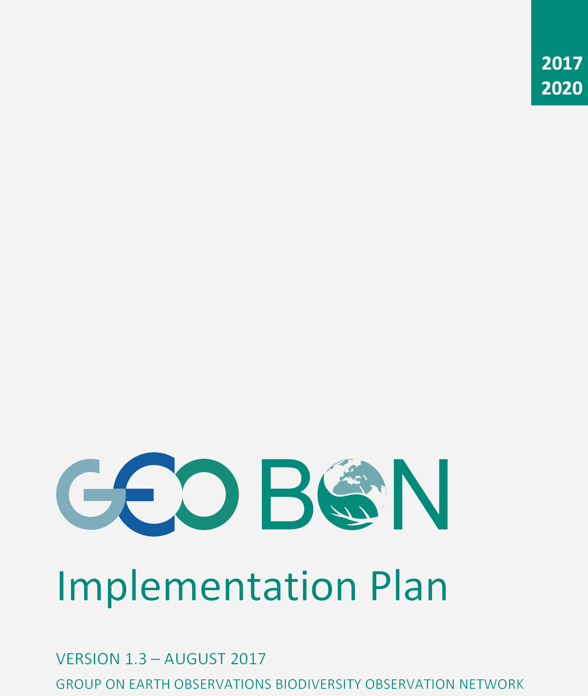 GEO BON Implementation plan